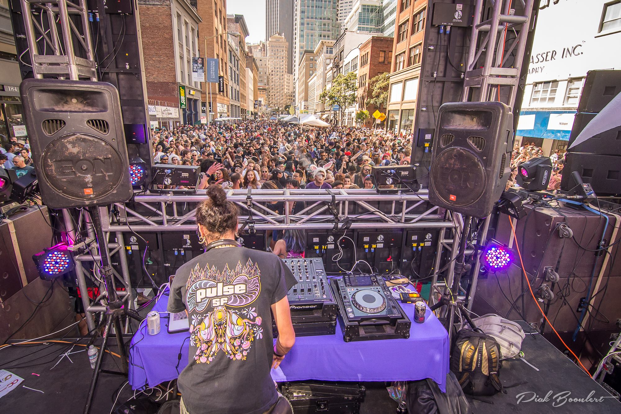 View from behind Pulse SF Stage; photo by Piak Boonlert